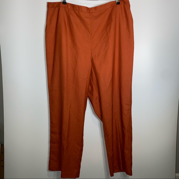 Alfred Dunner Pants Paprika Size 24W NEW